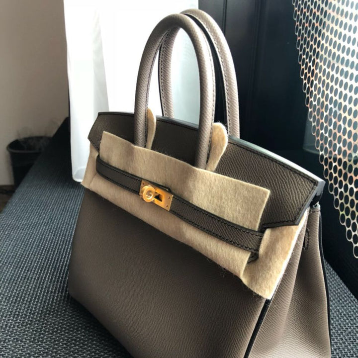 Hermès Birkin HSS 25 Gris Etain/Noir (Black) Epsom Brushed Gold Hardware BGHW C Stamp 2018 <!29018200> <!SOLD> - The French Hunter