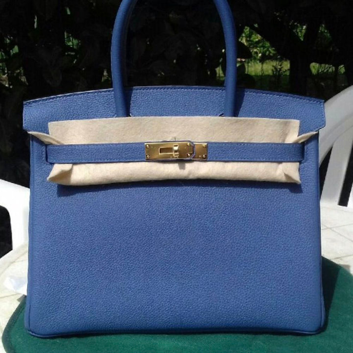 Hermès Birkin 30 Bleu Brighton Togo Gold Hardware GHW C Stamp 2018 <!29196644> - The French Hunter