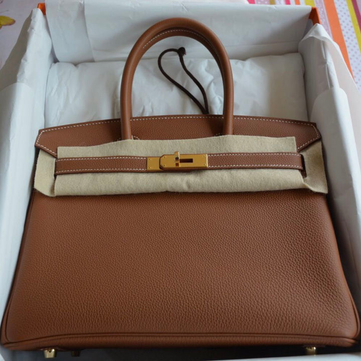 Hermès Birkin 30 Gold Togo Gold Hardware GHW C Stamp 2018 <!29318139> - The French Hunter