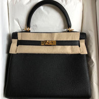 5d7e30936f Hermès Kelly 25 Noir (Black) Togo Gold Hardware GHW C Stamp 2018  !