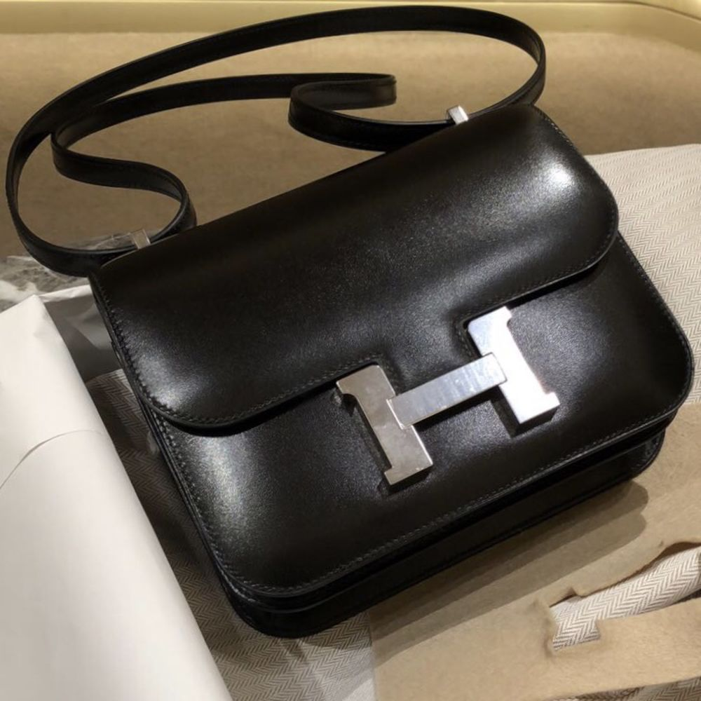 Hermès Constance 18 Noir (Black) Box Palladium Hardware PHW C Stamp 2018 <!29400399> <!SOLD> <!SOLD> <!SOLD> - The French Hunter