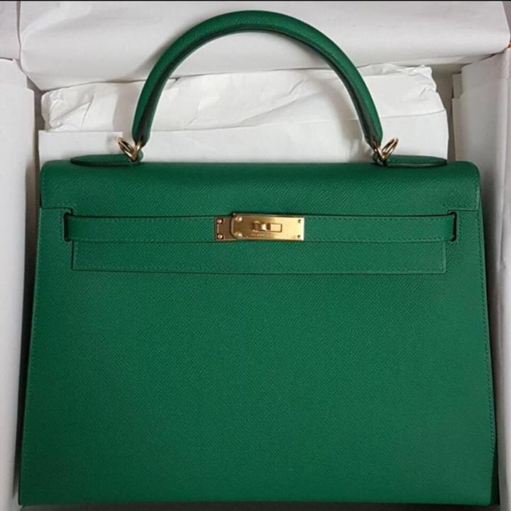 Hermès Kelly 32 Vert Vertigo Sellier Epsom Gold Hardware GHW C Stamp 2018 <!29418762> - The French Hunter