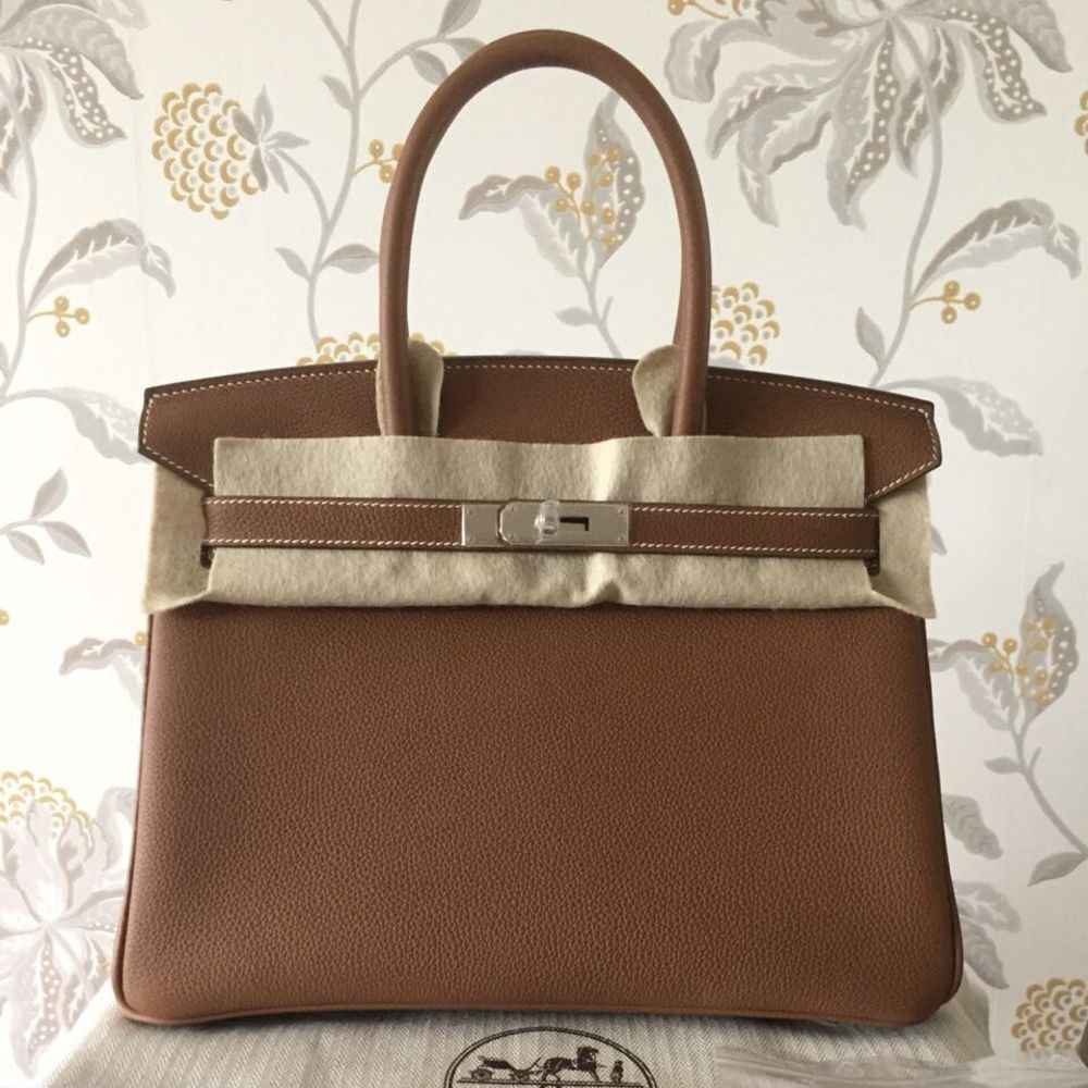 Hermès Birkin 30 Gold Togo Palladium Hardware PHW C Stamp 2018 <!29481468> <!SOLD> <!SOLD> <!SOLD> <!SOLD> - The French Hunter