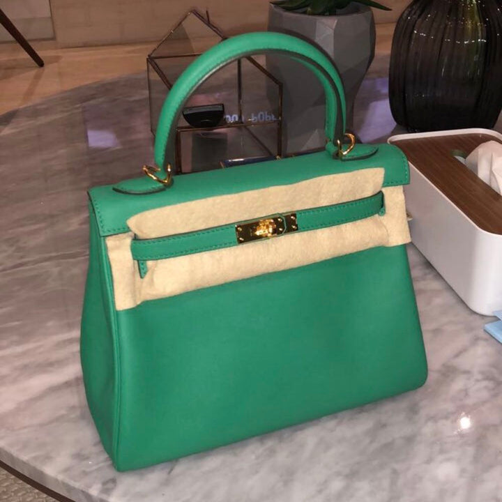 Hermès Kelly 25 Vert Vertigo Swift Gold Hardware GHW C Stamp 2018 <!29522130> - The French Hunter