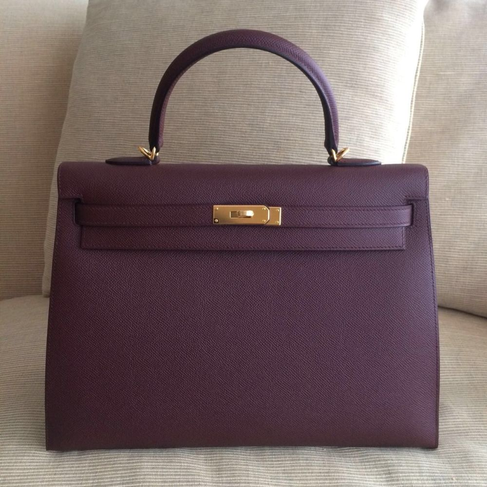 Hermès Kelly 35 Bordeaux Sellier Epsom Gold Hardware GHW C Stamp 2018 <!29523791> - The French Hunter