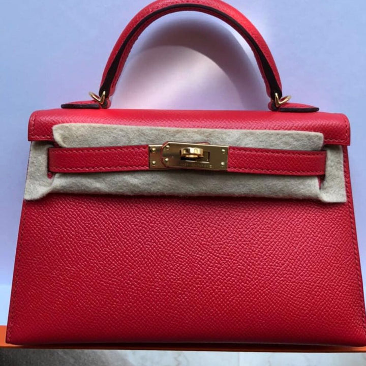 Hermès Kelly 20 Rouge Tomate Sellier Epsom Gold Hardware GHW C Stamp 2018 <!29540330> <!SOLD> - The French Hunter