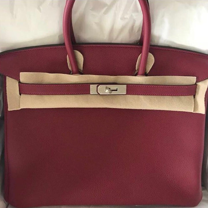 Hermès Birkin 35 Rouge Grenat Togo Palladium Hardware PHW A Stamp 2017 <!29549958> <!SOLD> - The French Hunter