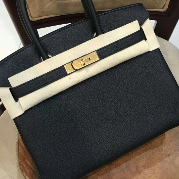 Hermès Birkin 30 Noir (Black) Togo Gold Hardware GHW C Stamp 2018 <!29573678> - The French Hunter