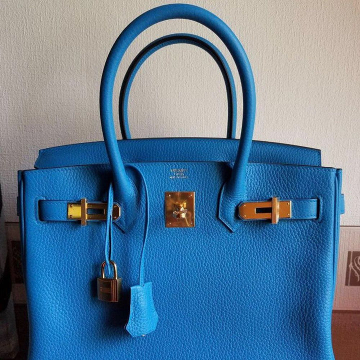 Hermès Birkin 30 Bleu Zanzibar Clemence Gold Hardware GHW A Stamp 2017 <!29588296> - The French Hunter