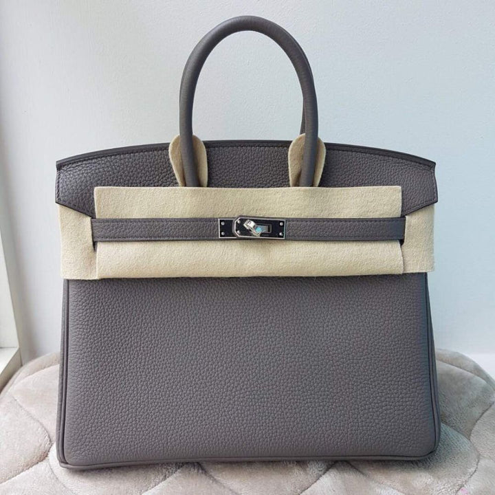 Hermès Birkin 25 Gris Etain Togo Palladium Hardware PHW C Stamp 2018 <!29629307> - The French Hunter