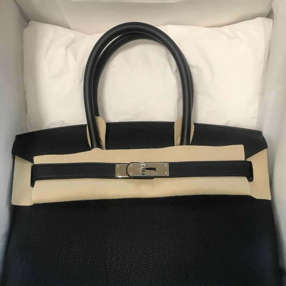 Hermès Birkin 30 Noir (Black) Togo Palladium Hardware PHW C Stamp 2018 <!29634626> - The French Hunter