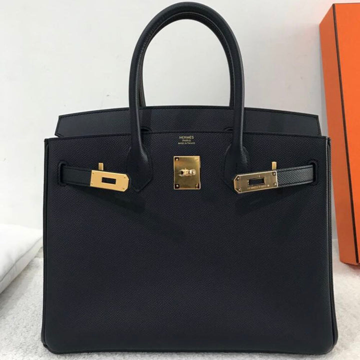 Hermès Birkin 30 Bleu Indigo Epsom Gold Hardware GHW A Stamp 2017 <!29658290> - The French Hunter