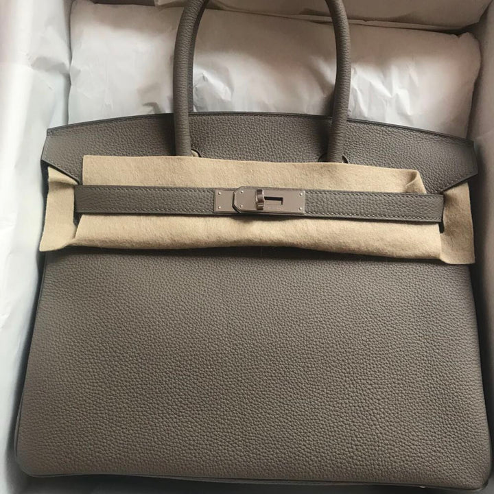 Hermès Birkin 30 Gris Asphalte Togo Palladium Hardware PHW C Stamp 2018 <!29805662> <!SOLD> - The French Hunter