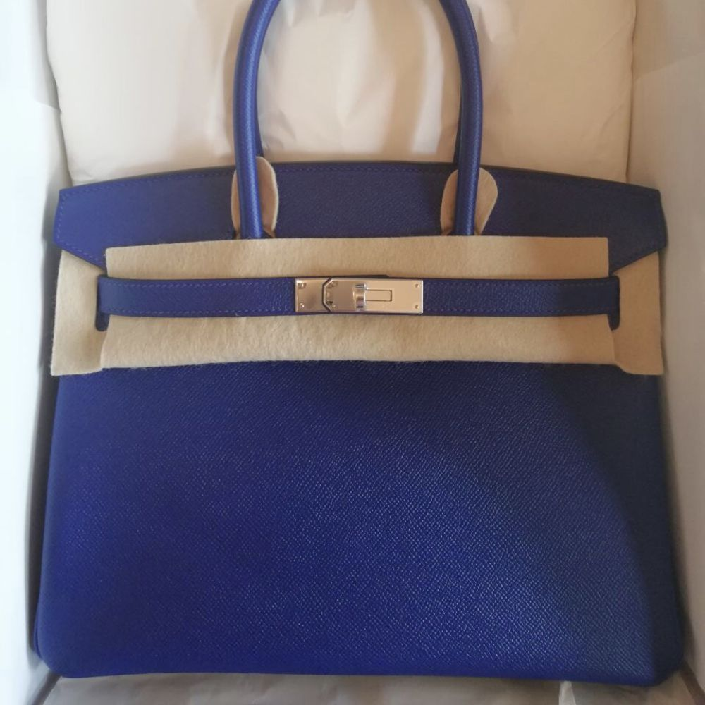 Hermès Birkin 30 Bleu Electrique Epsom Palladium Hardware PHW C Stamp 2018 <!29923835> - The French Hunter
