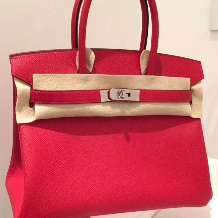 Hermès Birkin 30 Rouge Casaque Epsom Palladium Hardware PHW C Stamp 2018 <!29936834> <!SOLD> - The French Hunter