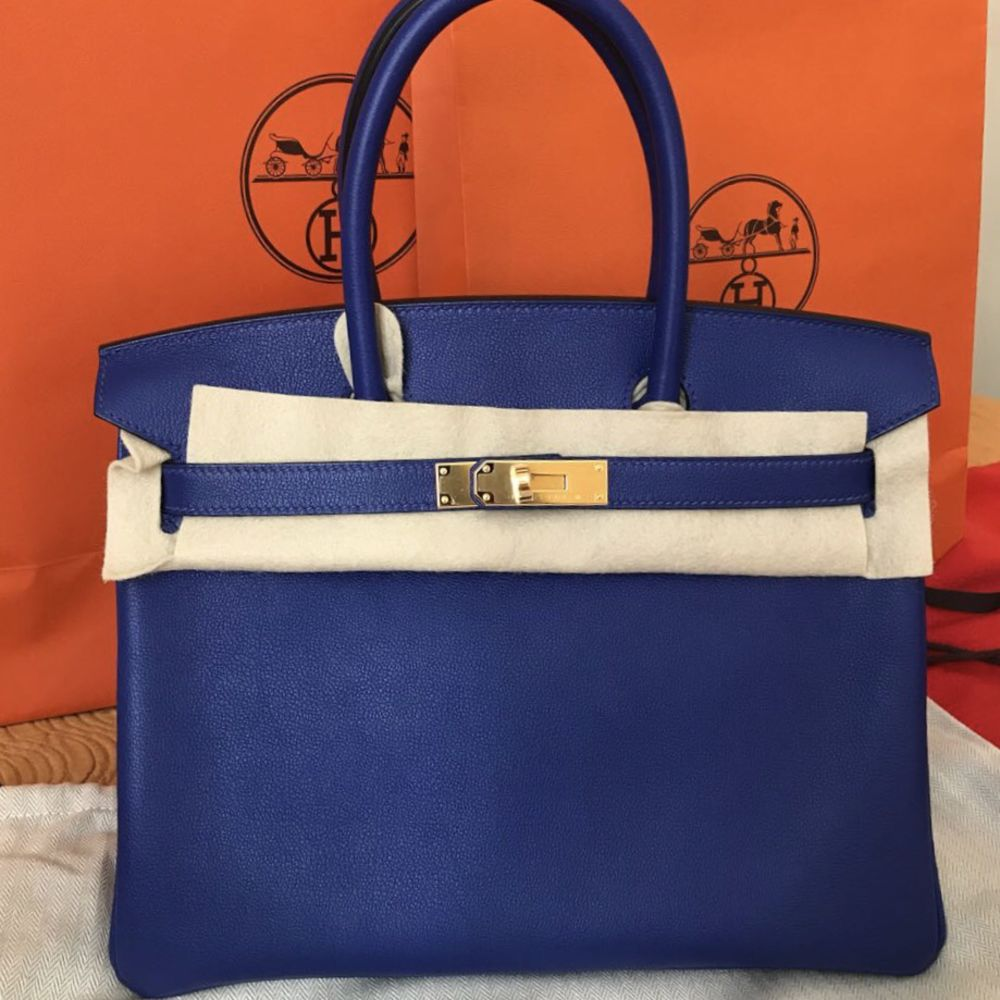 Hermès Birkin 30 Bleu Electrique Taurillon Novillo Gold Hardware GHW C Stamp 2018 <!29949150> <!SOLD> - The French Hunter