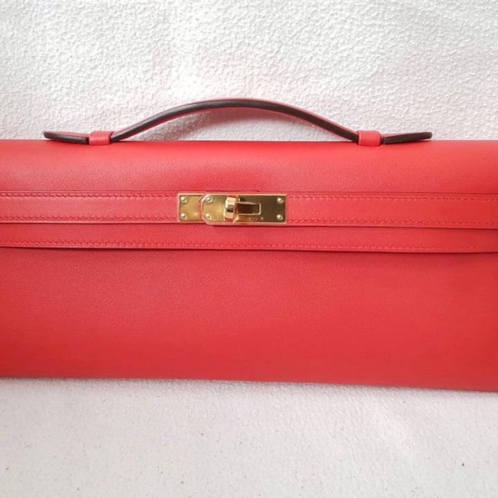 Hermès Kelly Cut Rouge Tomate Swift Gold Hardware GHW A Stamp 2017 <!29954256> - The French Hunter