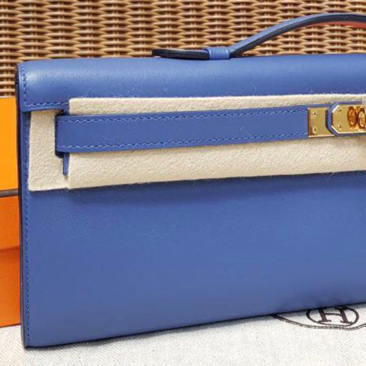 Hermès Kelly Cut Bleu Brighton Swift Gold Hardware GHW C Stamp 2018 <!29969915> - The French Hunter