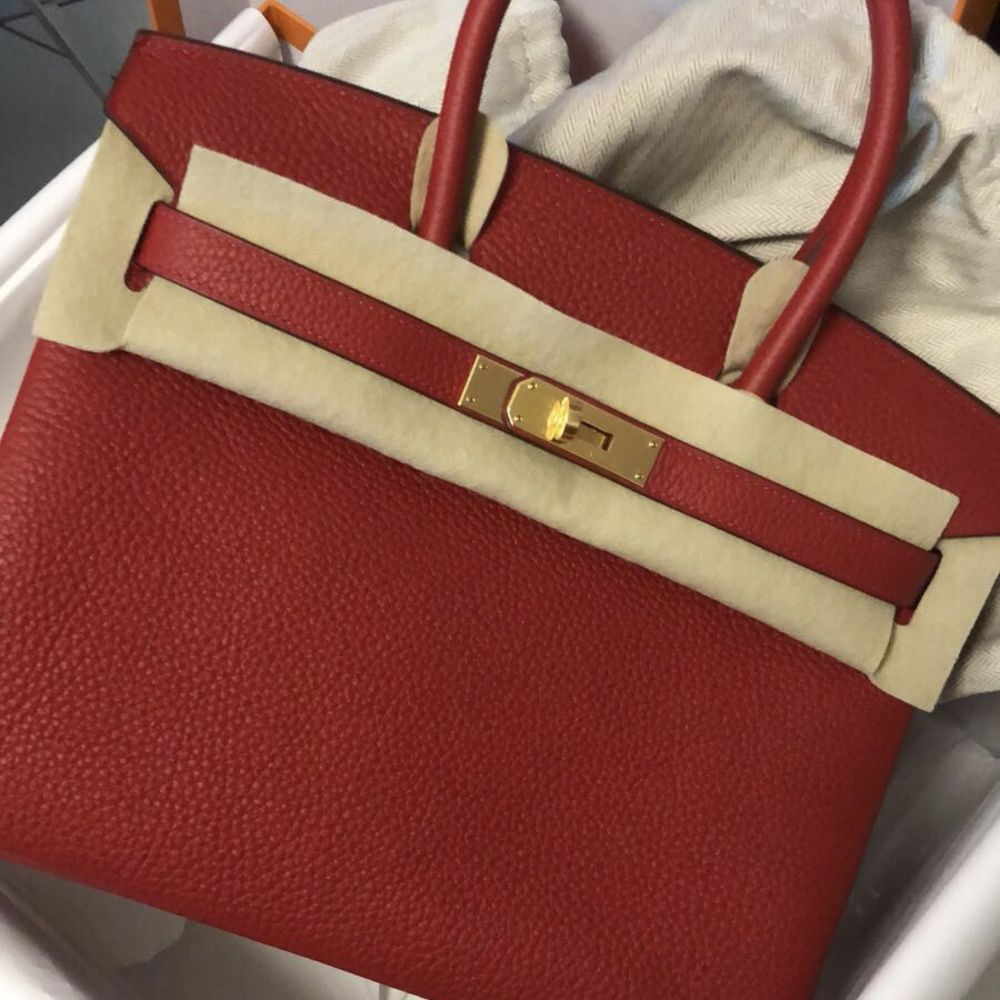 Hermès Birkin 30 Rouge Casaque Taurillon Clemence Gold Hardware GHW C Stamp 2018 <!30016498> - The French Hunter