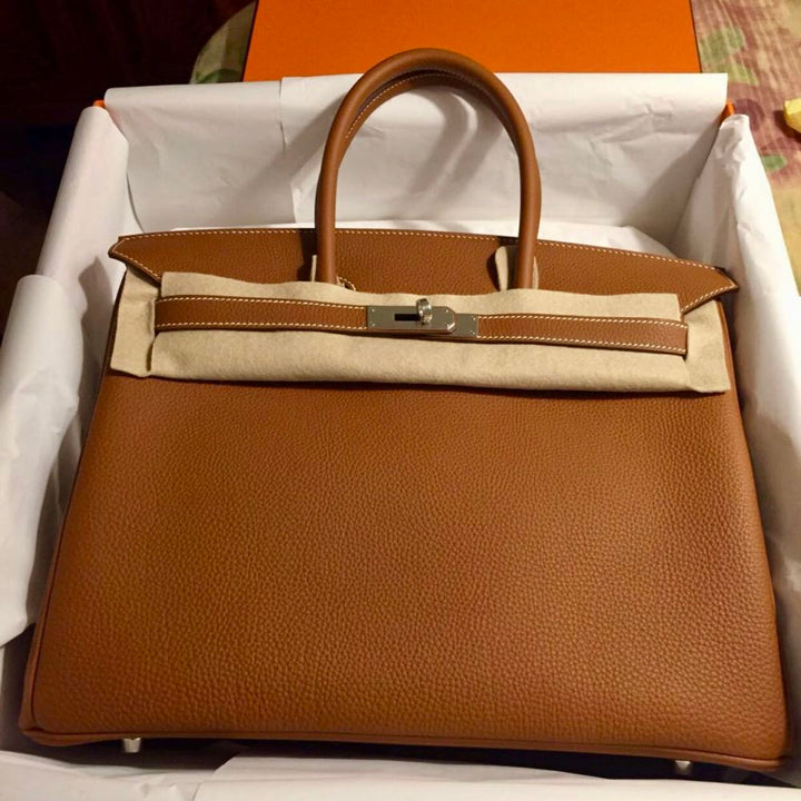 Hermès Birkin 30 Gold Togo Palladium Hardware PHW C Stamp 2018 <!30016532> - The French Hunter