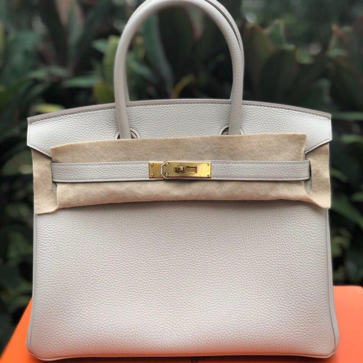 Hermès Birkin 30 Beton Togo Gold Hardware GHW C Stamp 2018 <!30064509> - The French Hunter