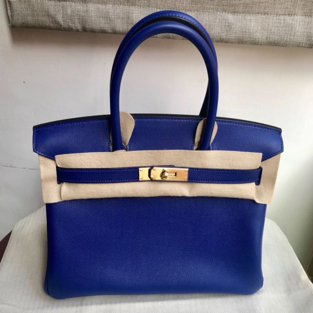 Hermès Birkin 30 Bleu Electrique Taurillon Novillo Gold Hardware GHW C Stamp 2018 <!30065416> - The French Hunter
