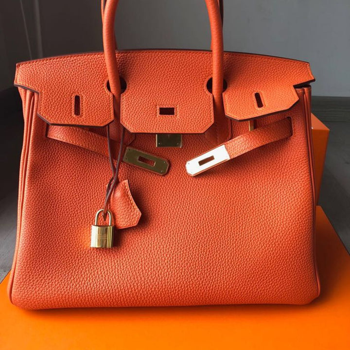 9f6b5e073dd6 Hermès Birkin 30 Orange Togo Gold Hardware GHW T Stamp 2015 – The ...