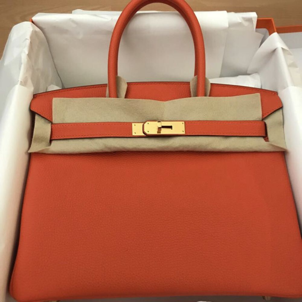 Hermès Birkin 30 Feu Togo Gold Hardware GHW C Stamp 2018 <!30192207> <!SOLD> <!SOLD> <!SOLD> - The French Hunter