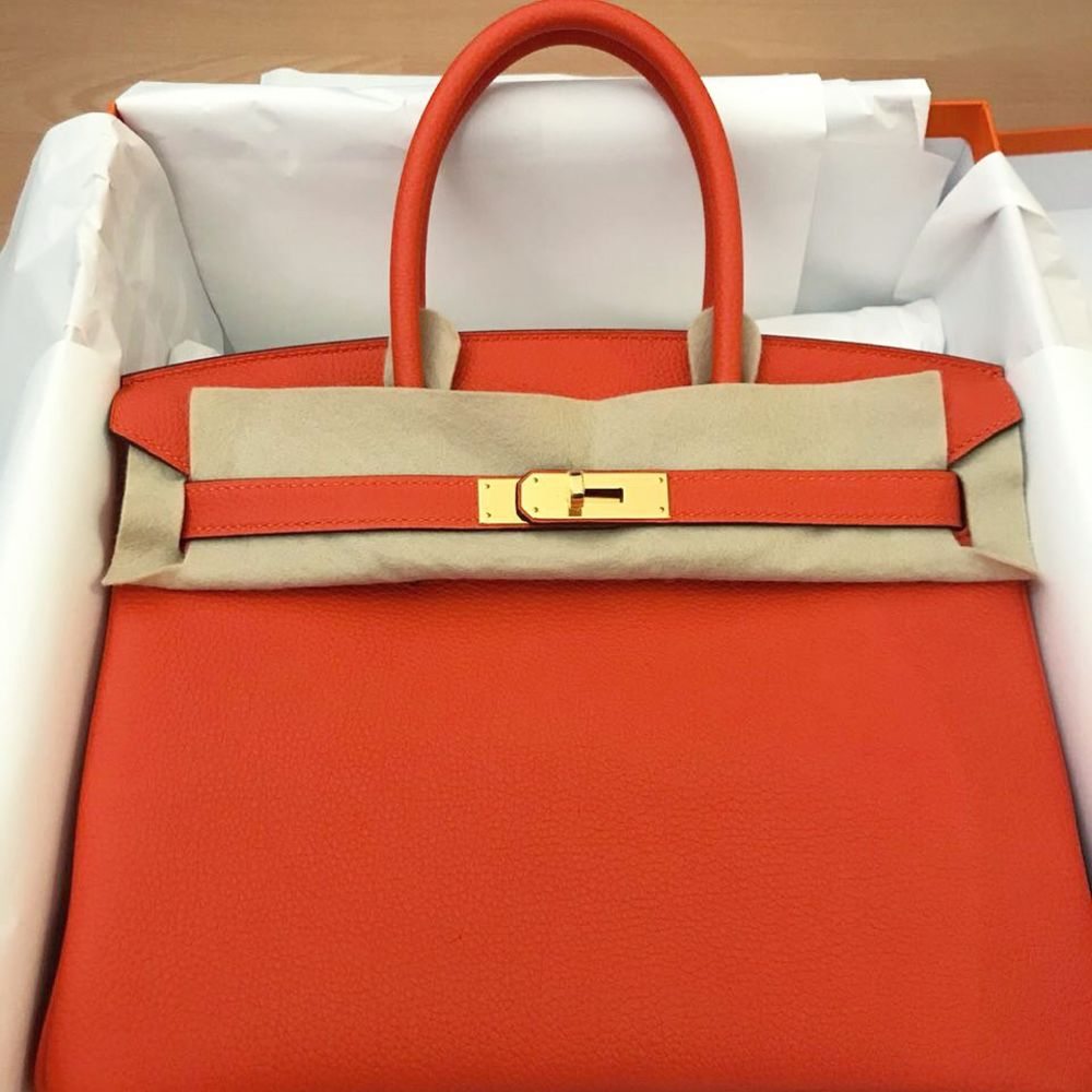 Hermès Birkin 30 Feu Togo Gold Hardware GHW C Stamp 2018 <!30236154> - The French Hunter