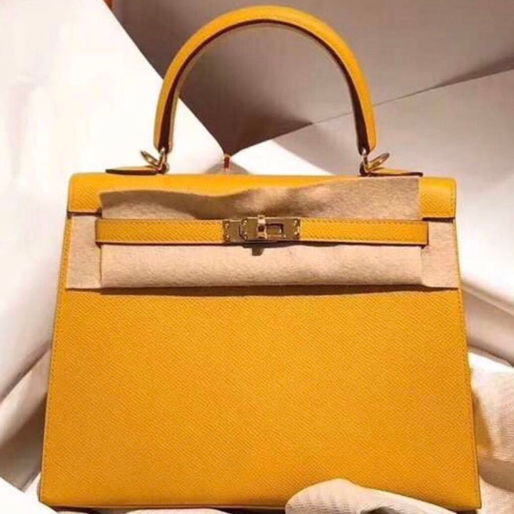7f6794c2c00a ... official store hermès kelly 25 ambre sellier epsom gold hardware ghw c  stamp 2018 5204e 07b0a