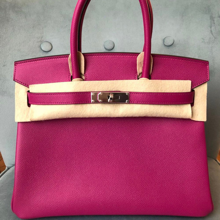 Hermès Birkin 30 Rose Pourpre Epsom Palladium Hardware PHW C Stamp 2018 <!30408930> - The French Hunter