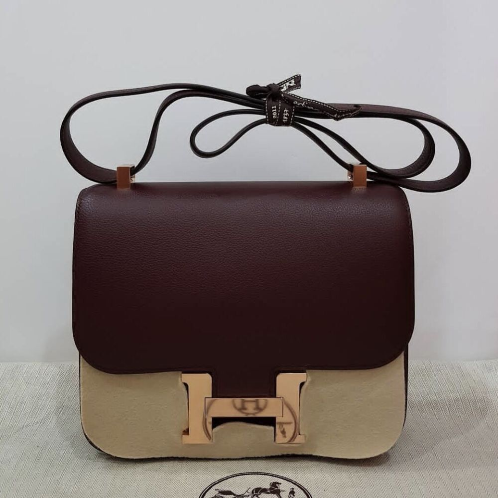 Hermès Constance 24 Bordeaux Evercolor Gold Hardware GHW A Stamp 2017 <!30511581> - The French Hunter