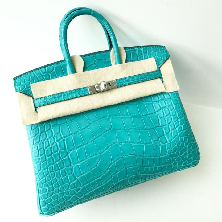 Hermès Birkin 25 Bleu Paon Alligator Mississippi Matte Palladium Hardware PHW A Stamp 2017 <!30606877> <!SOLD> - The French Hunter