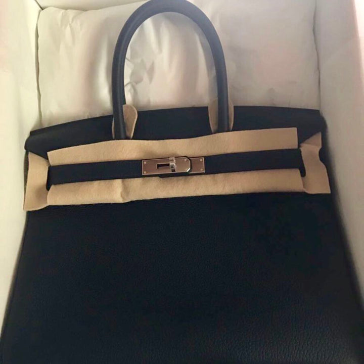 Hermès Birkin 30 Noir (Black) Togo Palladium Hardware PHW C Stamp 2018 <!31106114> - The French Hunter