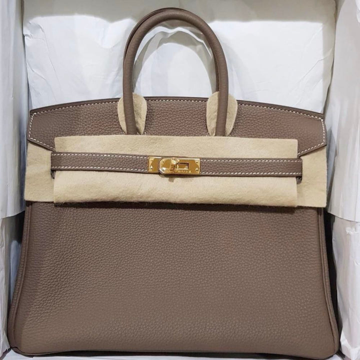 Hermès Birkin 25 Etoupe Togo Gold Hardware GHW C Stamp 2018 <!31293850> - The French Hunter