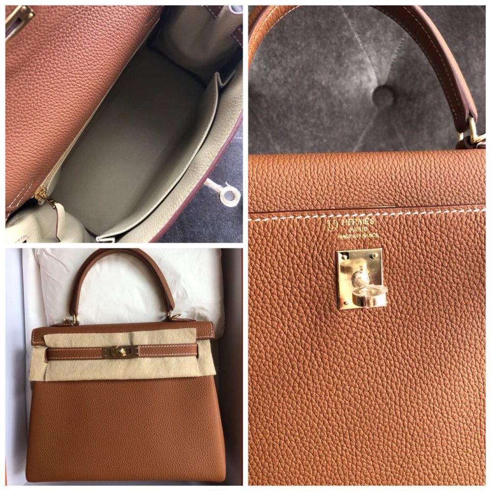 Hermès Kelly HSS 25 Gold/Trench Togo Permabrass Hardware PER C Stamp 2018 <!31356415> <!SOLD> - The French Hunter