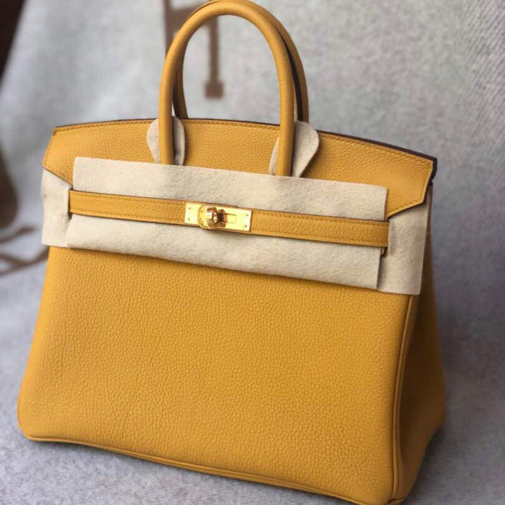 Hermès Birkin 25 Ambre Togo Gold Hardware GHW C Stamp 2018 - The French Hunter