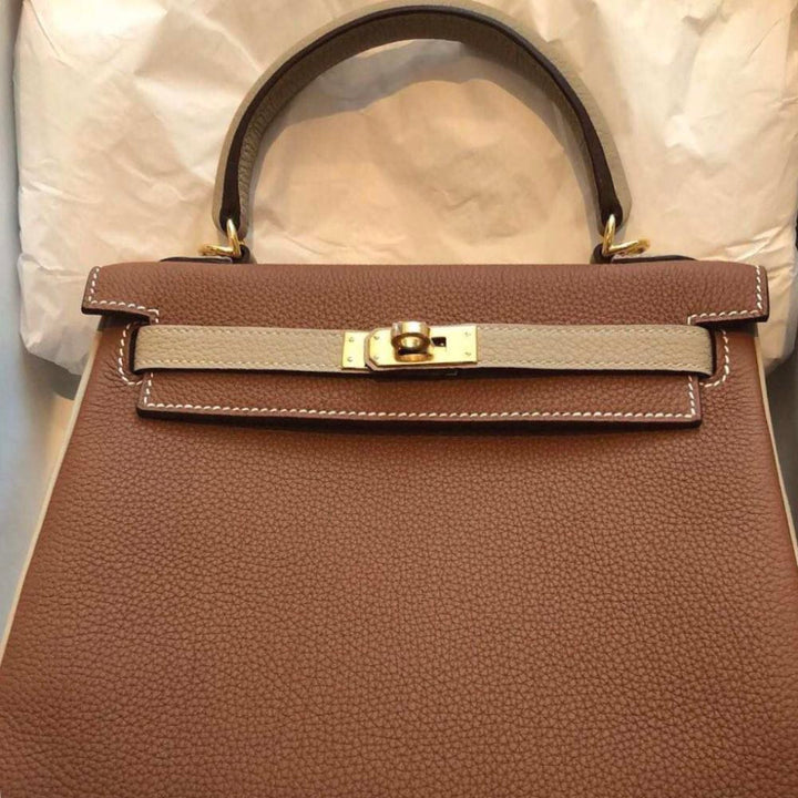 Hermès Kelly HSS 25 Gold/Trench Togo Gold Hardware GHW C Stamp 2018 - The French Hunter