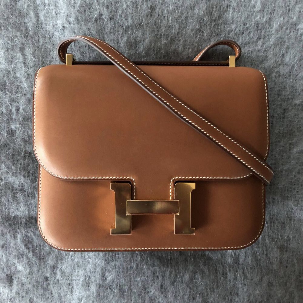 Hermès Constance 18 Naturel-Sable Barenia Natural Gold Hardware GHW A Stamp 2017 - The French Hunter