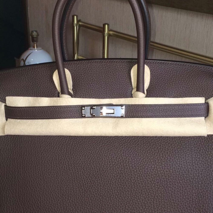 Hermès Birkin 35 Chocolat Togo Palladium Hardware PHW C Stamp 2018 - The French Hunter