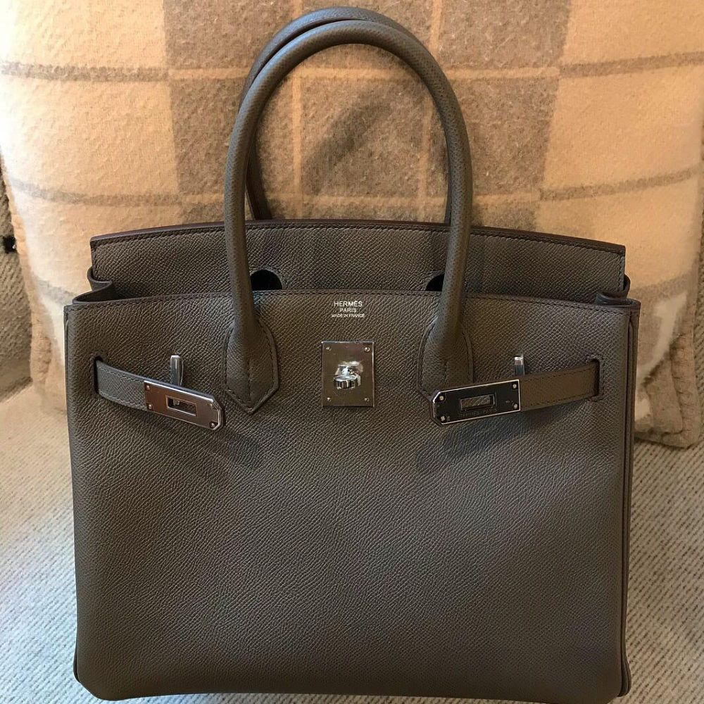 Hermès Birkin 30 Gris Etain Epsom Palladium Hardware PHW C Stamp 2018 - The French Hunter