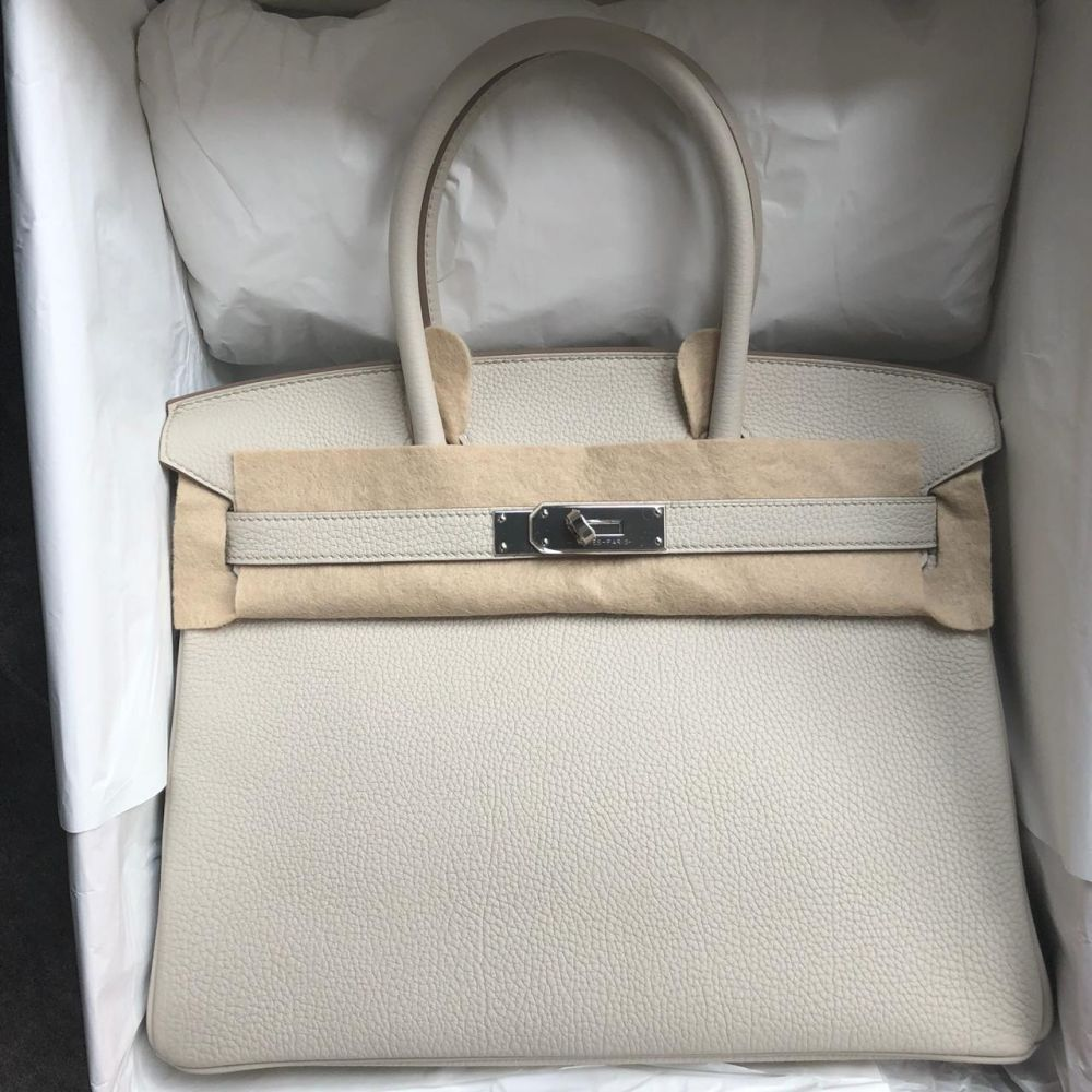 Hermès Birkin 30 Beton Togo Palladium Hardware PHW C Stamp 2018 - The French Hunter