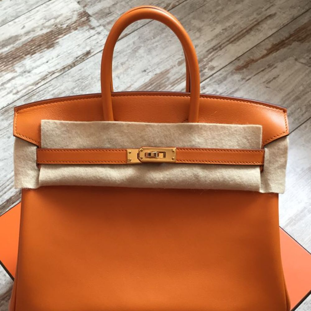 Hermès Birkin 25 Abricot Swift Gold Hardware GHW C Stamp 2018 - The French Hunter
