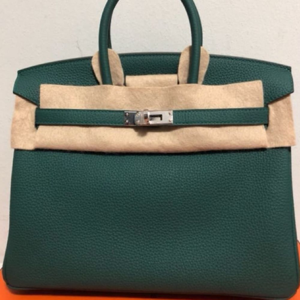 Hermès Birkin 25 Malachite Togo Palladium Hardware PHW C Stamp 2018 - The French Hunter