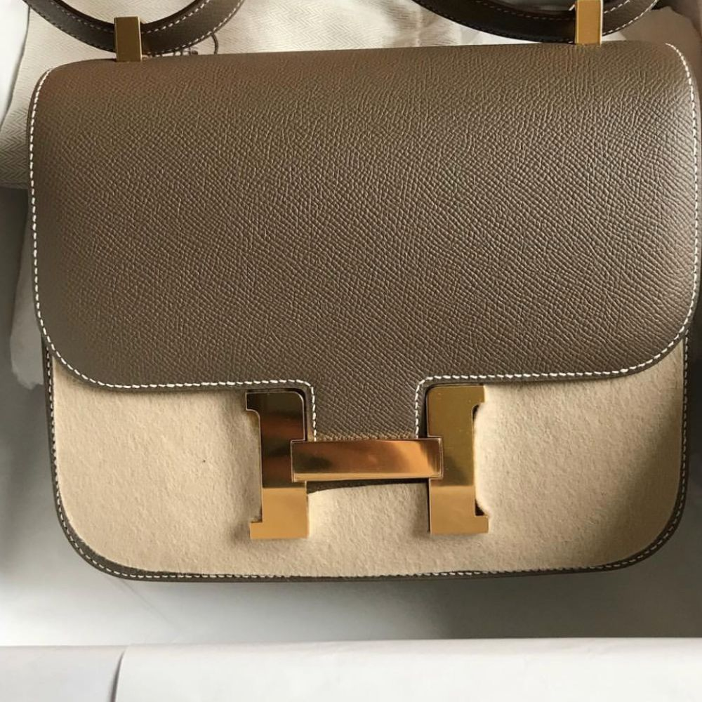 Hermès Constance 24 Etoupe Epsom Gold Hardware GHW C Stamp 2018 - The French Hunter