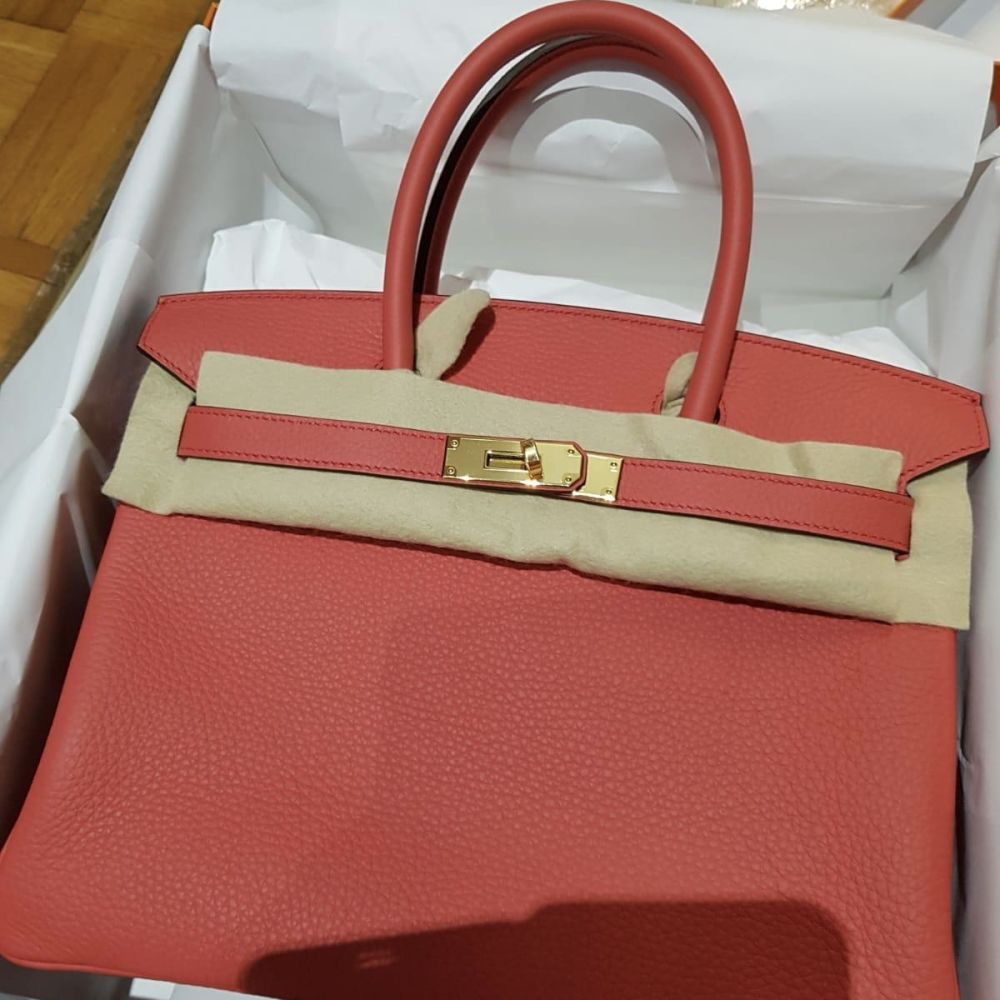 Hermès Birkin 30 Bougainvillier Taurillon Clemence Gold Hardware GHW C Stamp 2018 - The French Hunter