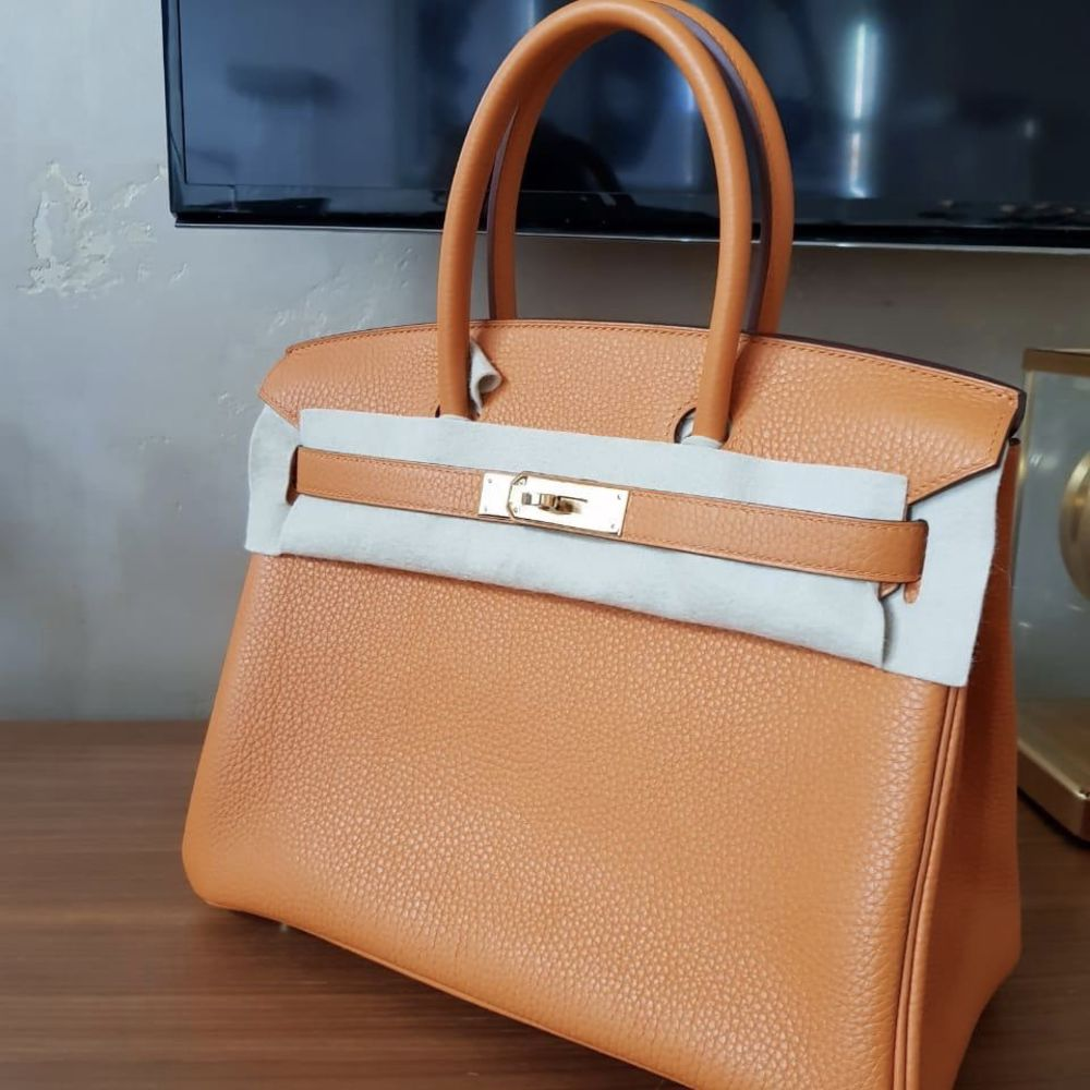 Hermès Birkin 30 Abricot Taurillon Clemence Gold Hardware GHW C Stamp 2018 - The French Hunter