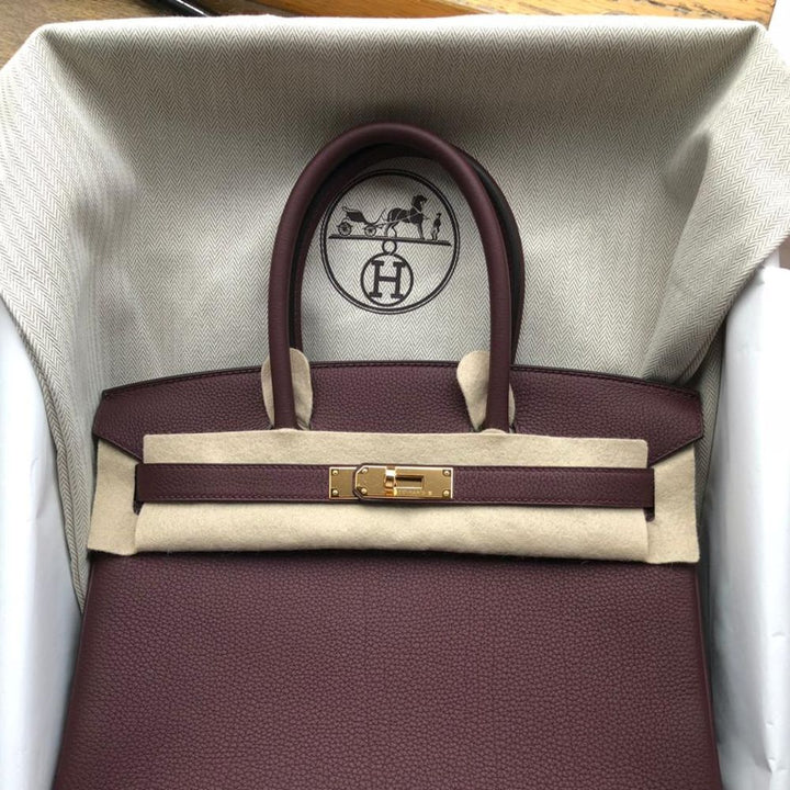 Hermès Birkin 30 Bordeaux Togo Gold Hardware GHW C Stamp 2018 - The French Hunter
