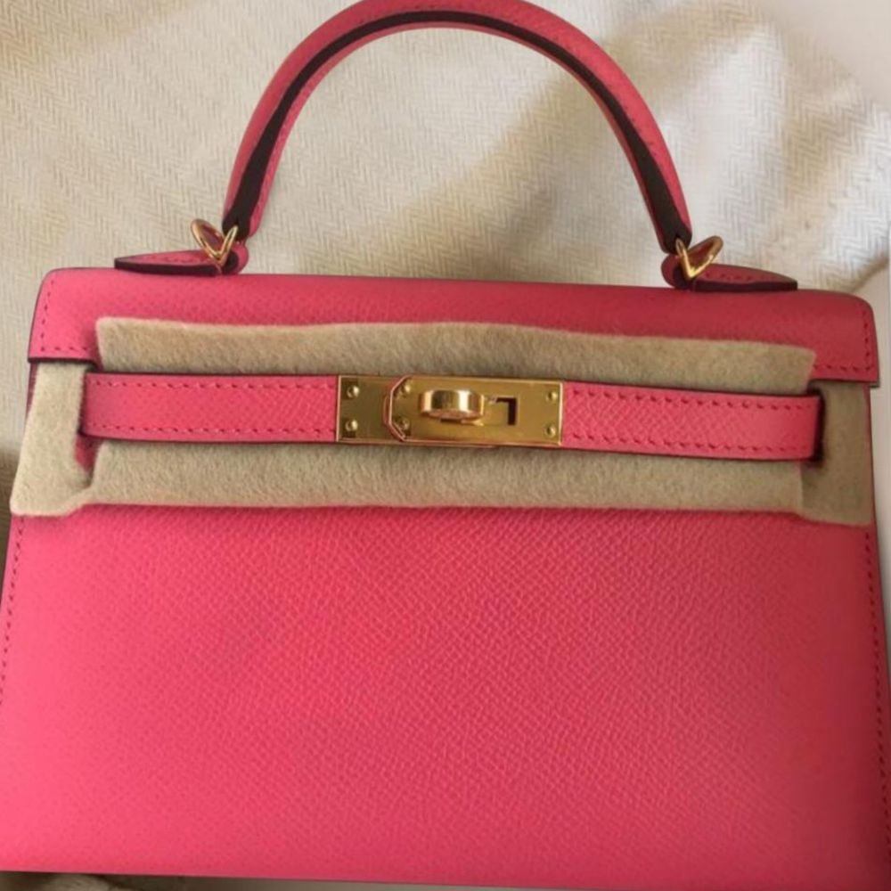 Hermès Kelly 20 Rose Azalee Sellier Epsom Gold Hardware GHW