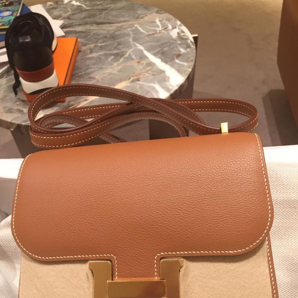 Hermès Constance 18 Gold Evercolor Gold Hardware GHW